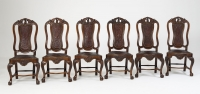 Six Spanish Louis XV chairs