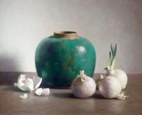 Still-life with Green Ginger Jar and Garlic