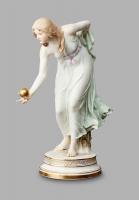 A German Meissen porcelain 'KügelSpielerin' by Walter Scott, circa 1890