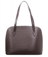 Louis Vuitton Moka Epi Leather Lussac Tote Bag