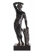 Early XVIIIth Century Bronze of a Standing Apolino