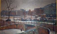 Townview, Amsterdam in wintertime, Theater Carre
