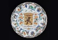 "Chinese porcelain Kangxi Armorial Plate ""Vlaanderen"""