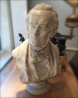 Gipsen buste van Richard Wagner