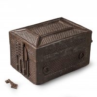 An oak missal box