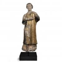 A terracotta sculpture representing saint Cosmas