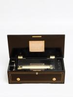 A Swiss Langdorff rosewood cylinder music box, circa 1860