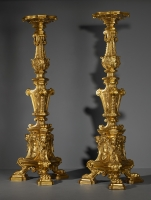 Pair of Large Italian Louis XIV Torcheres