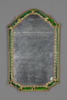 Venetiaanse 18e eeuwse Murano Glazen Spiegel