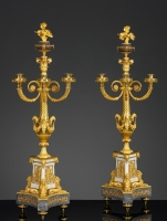 A very fine Pair of French Louis XVI Five-Light Candelabra attributed to Pierre-Philippe Thomire