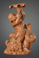 Flemish Terracotta sculpture of Triton on a Dolphin