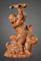 Terracotta Triton op een Dofijn