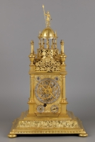 A German Vertical Astronomical Table Clock with Astrolabe, signed: JOHANNES BENNER AUGSBURG