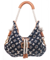 Louis Vuitton Navy Monogram Bulles MM Bag - Limited Edition