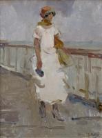 Elegante dame op de Scheveningse Pier