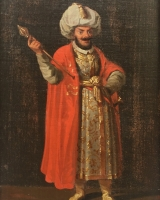Portraits of a Sultan and a Chinese calligrapher