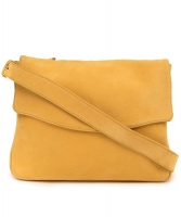 Delvaux Yellow Suede Cross Body Bag - Delvaux