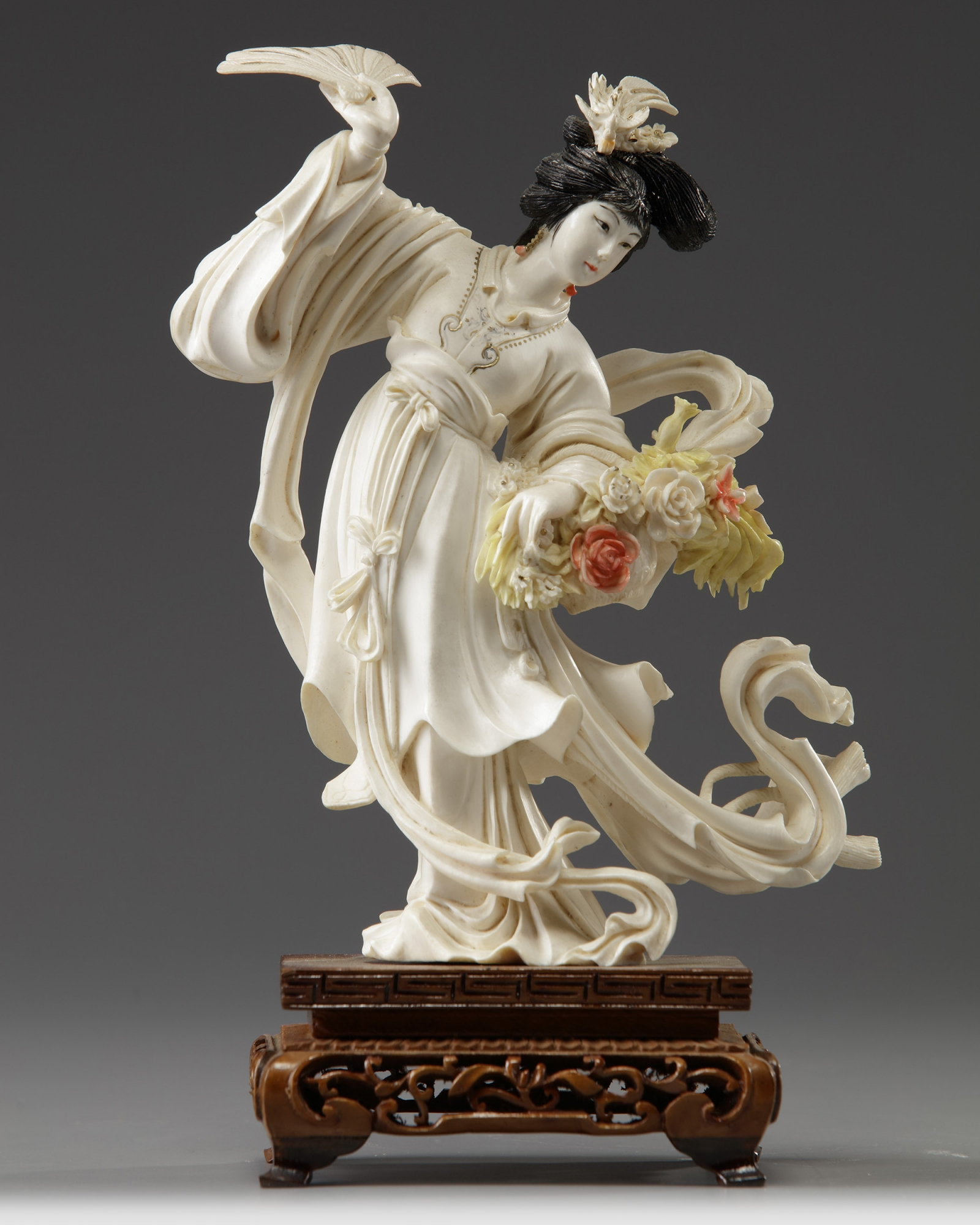 Five Chinese ivory carvings | OAA
