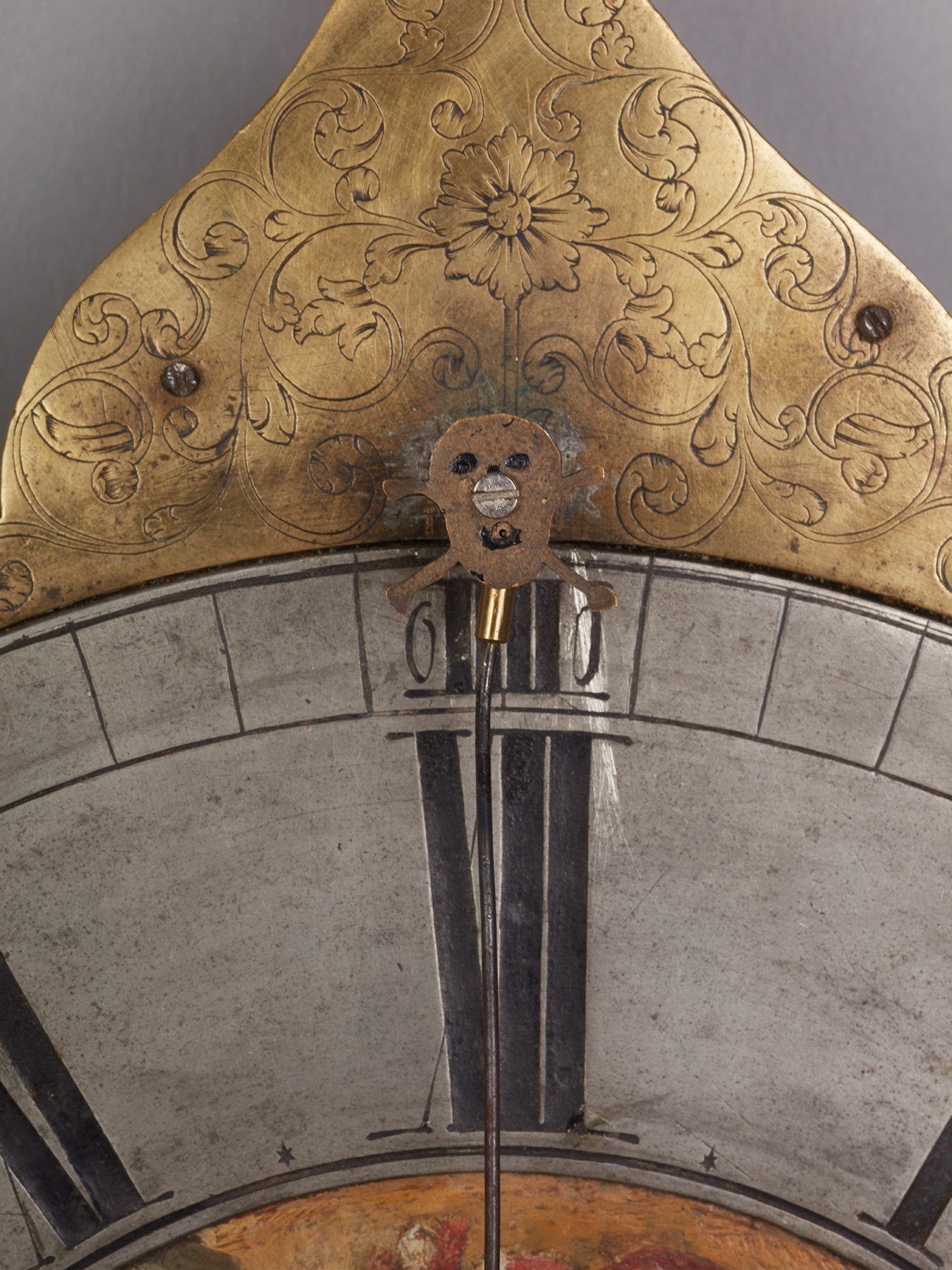 An Unusual South German Teller Uhr Wall Clock With Cow