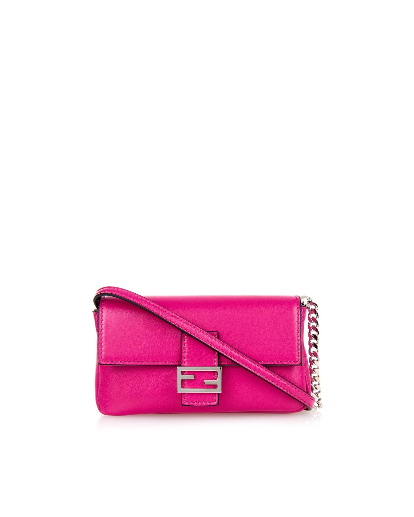 19ecd925da92 Fendi Pink Micro Baguette Bag