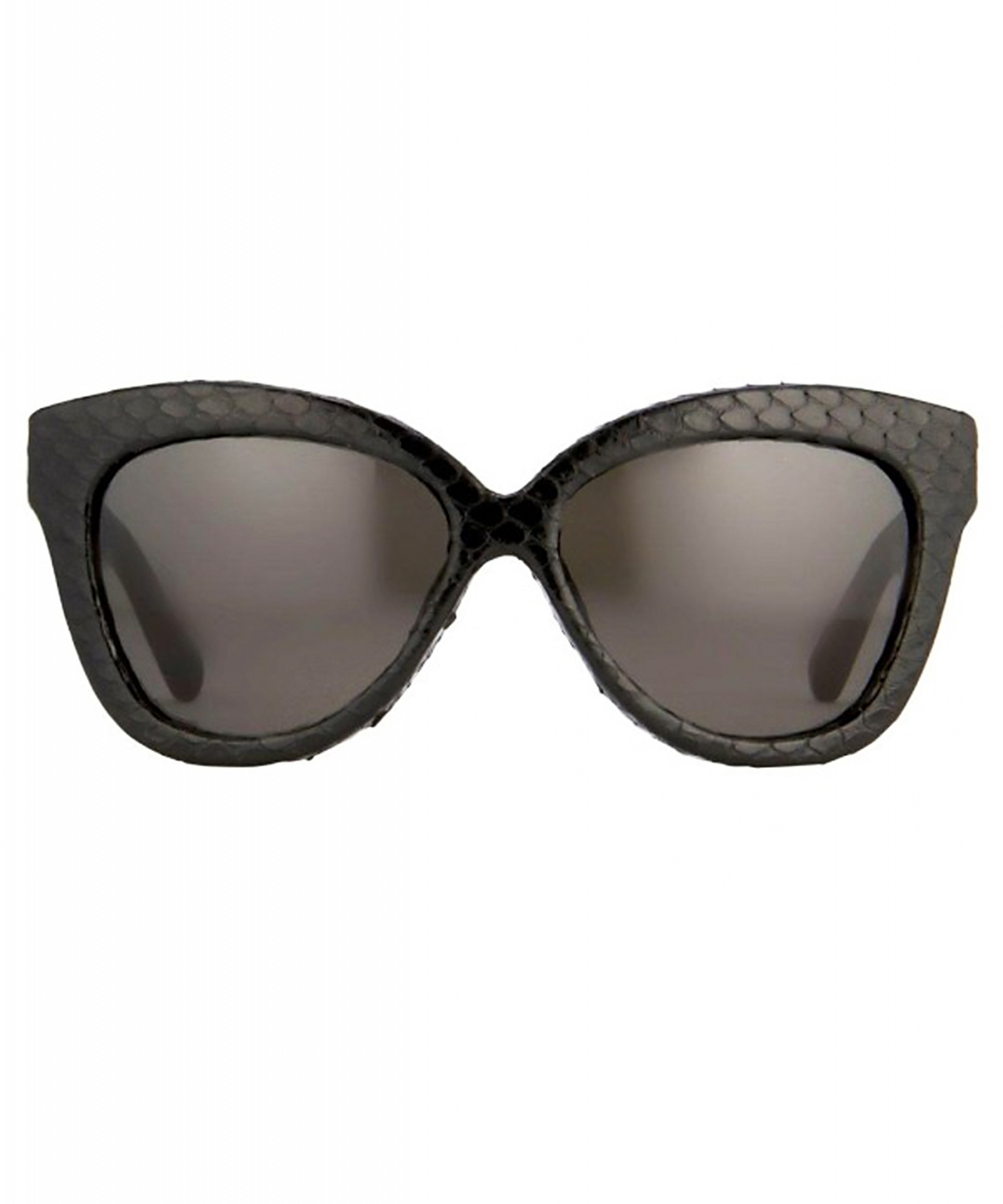 18bac565ad3f Linda Farrow Cat-Eye Frame Python-Coated Sunglasses