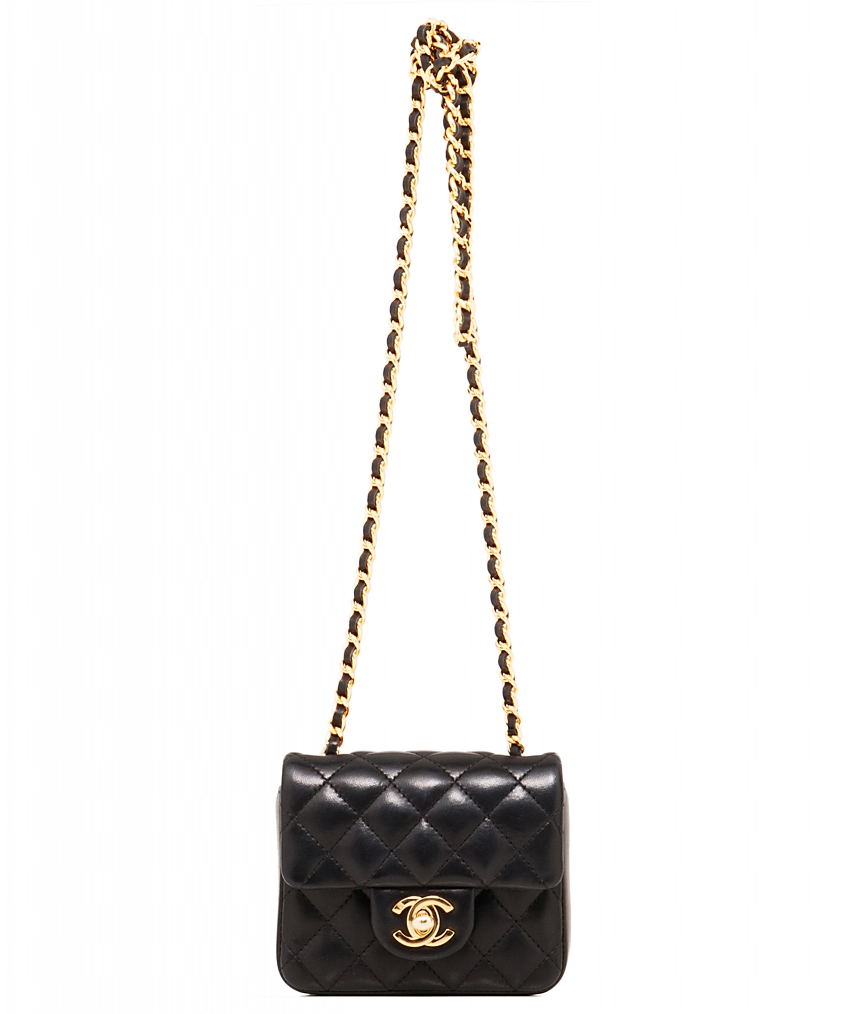 Chanel Black Micro Mini Classic Cross Body Bag  bae4b366d06ca