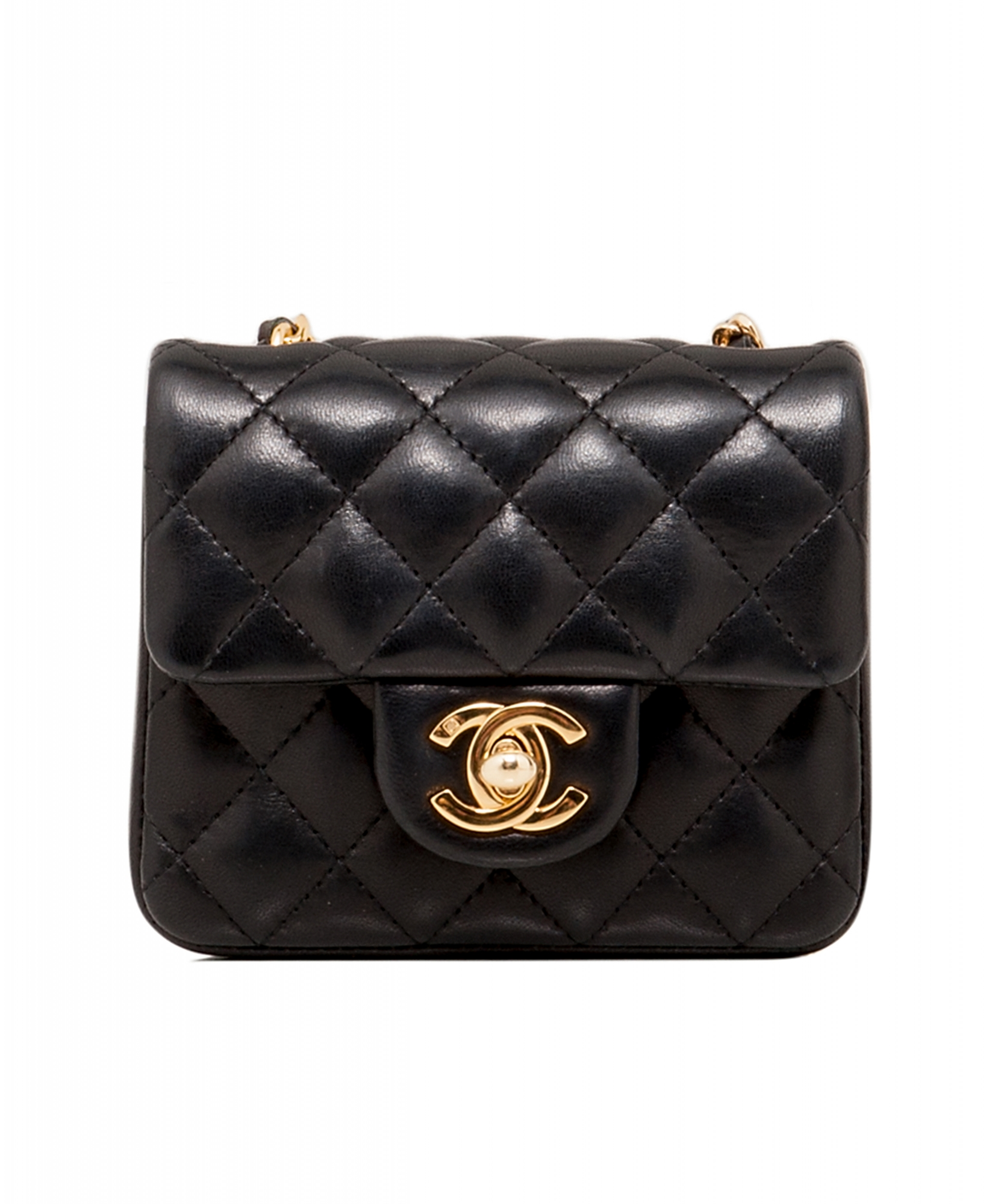 Chanel Black Micro Mini Classic Cross Body Bag  aed371530ef5