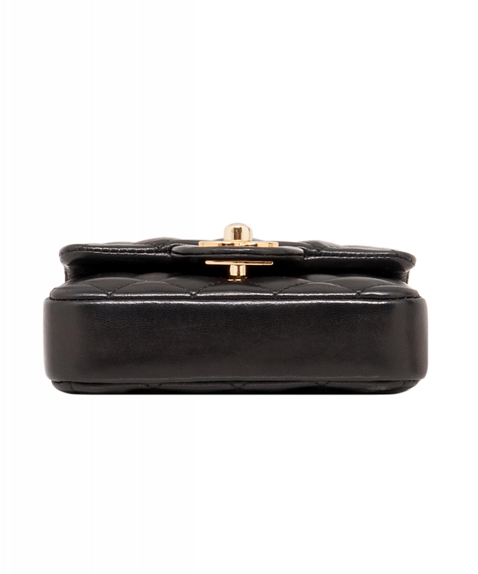 ... Chanel Black Micro Mini Classic Cross Body Bag. Tap to expand c38335c7659d2