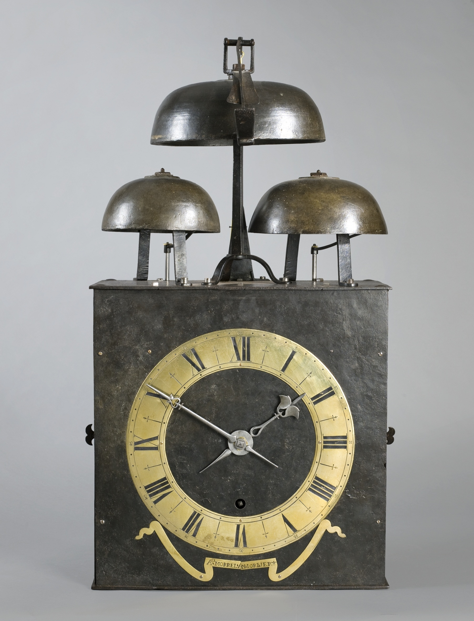 A Rare Large French Quarter Striking Morbier Wall Clock