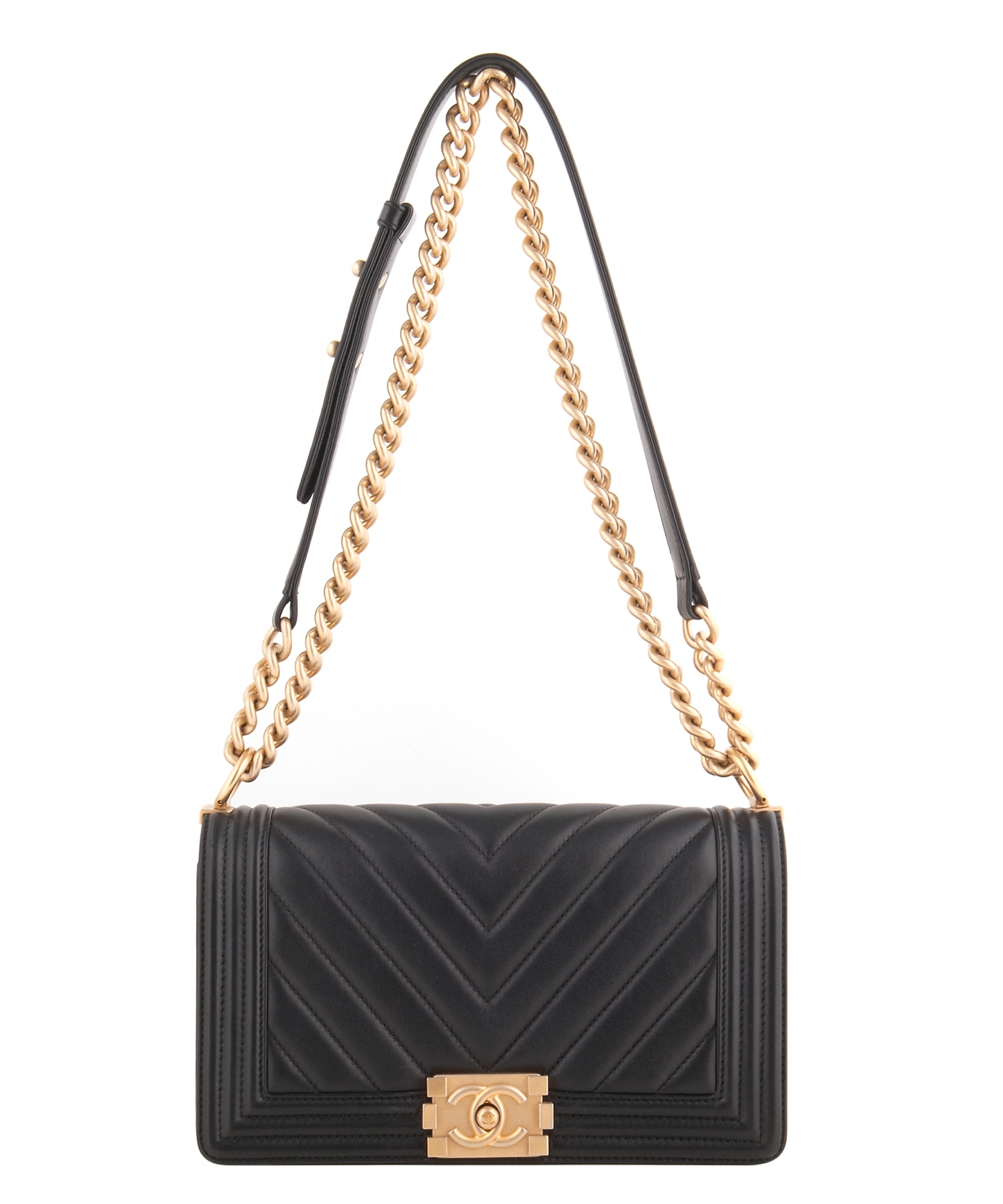 169274679b7a Chanel Black Chevron Quilted Medium Boy Bag | La Doyenne