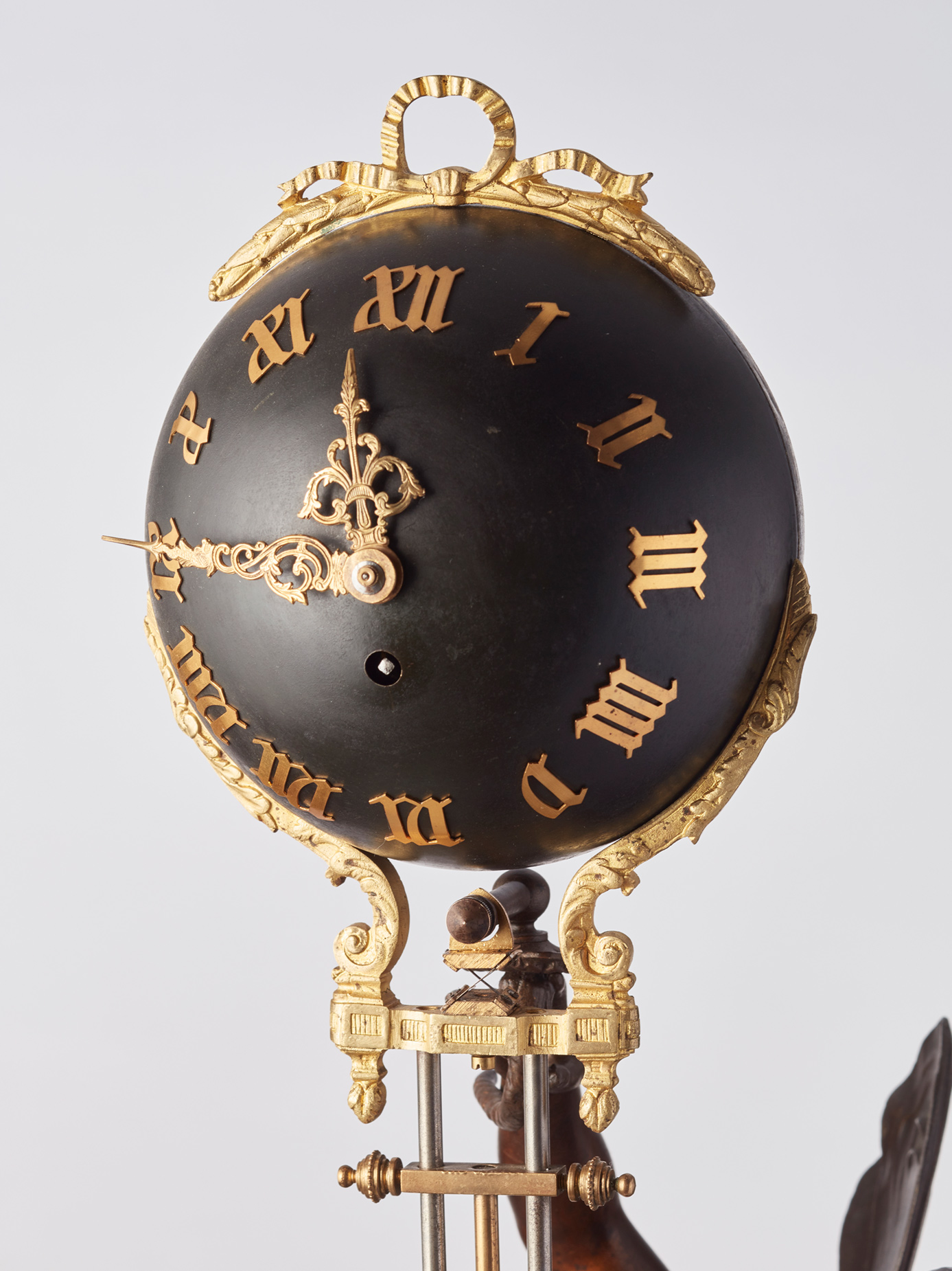 A French Swinger Mystery Clock By Auguste Moreau Circa