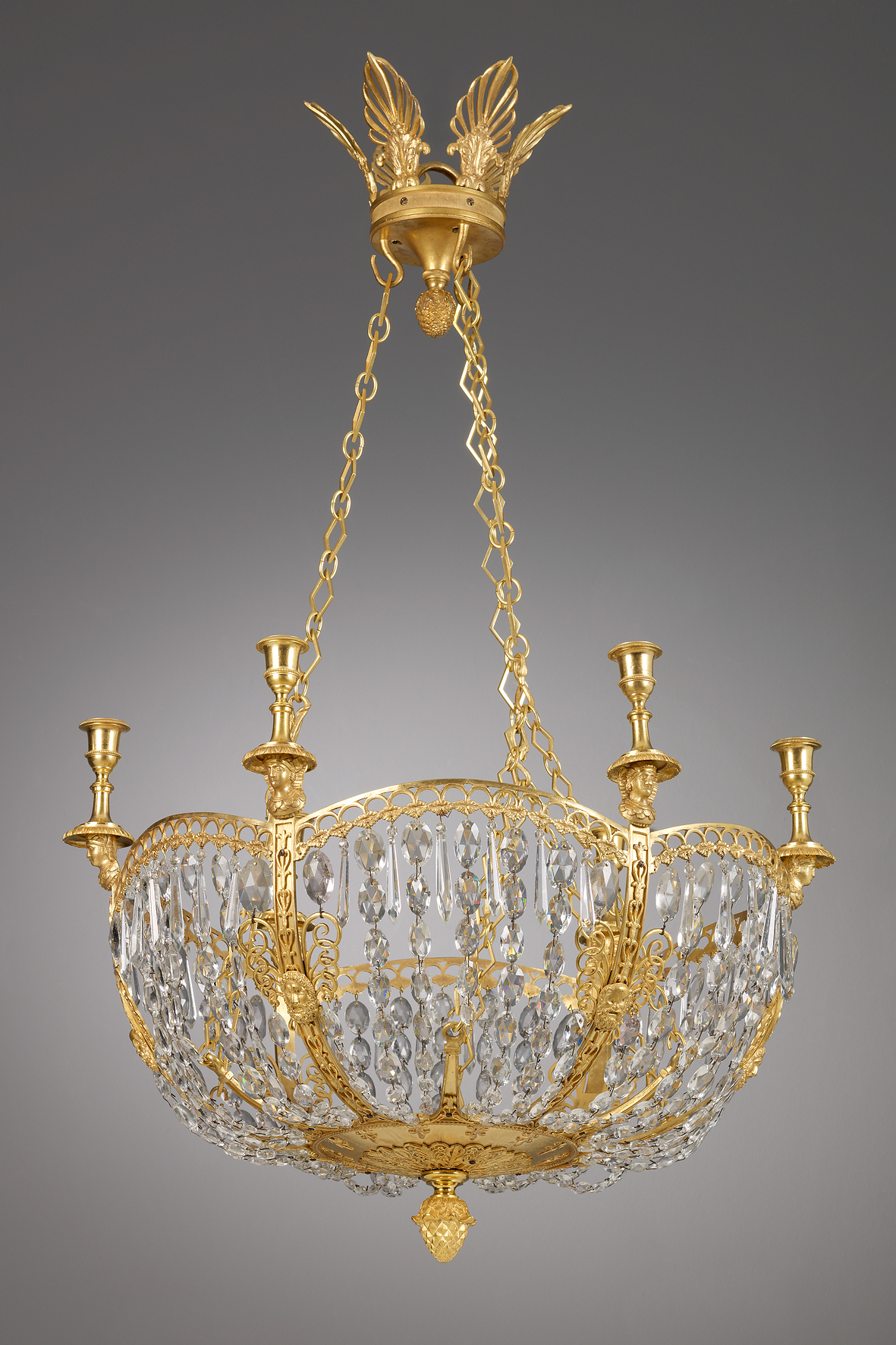 Russian Six Lights Chandelier | Kollenburg Antiquairs