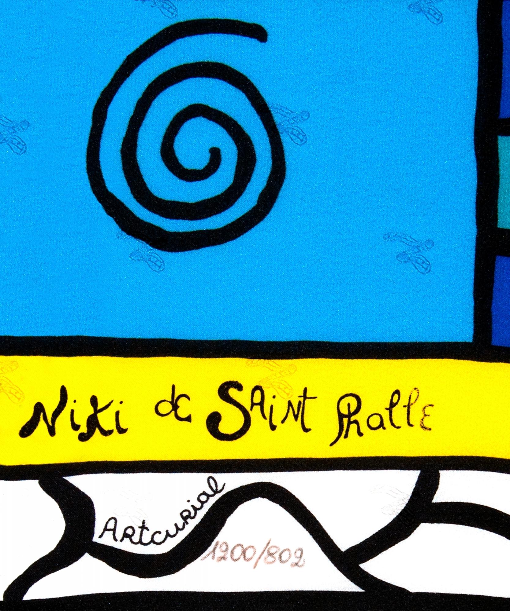 Niki De Saint Phalle Silk Scarf - Niki de Saint Phalle | ArtListings