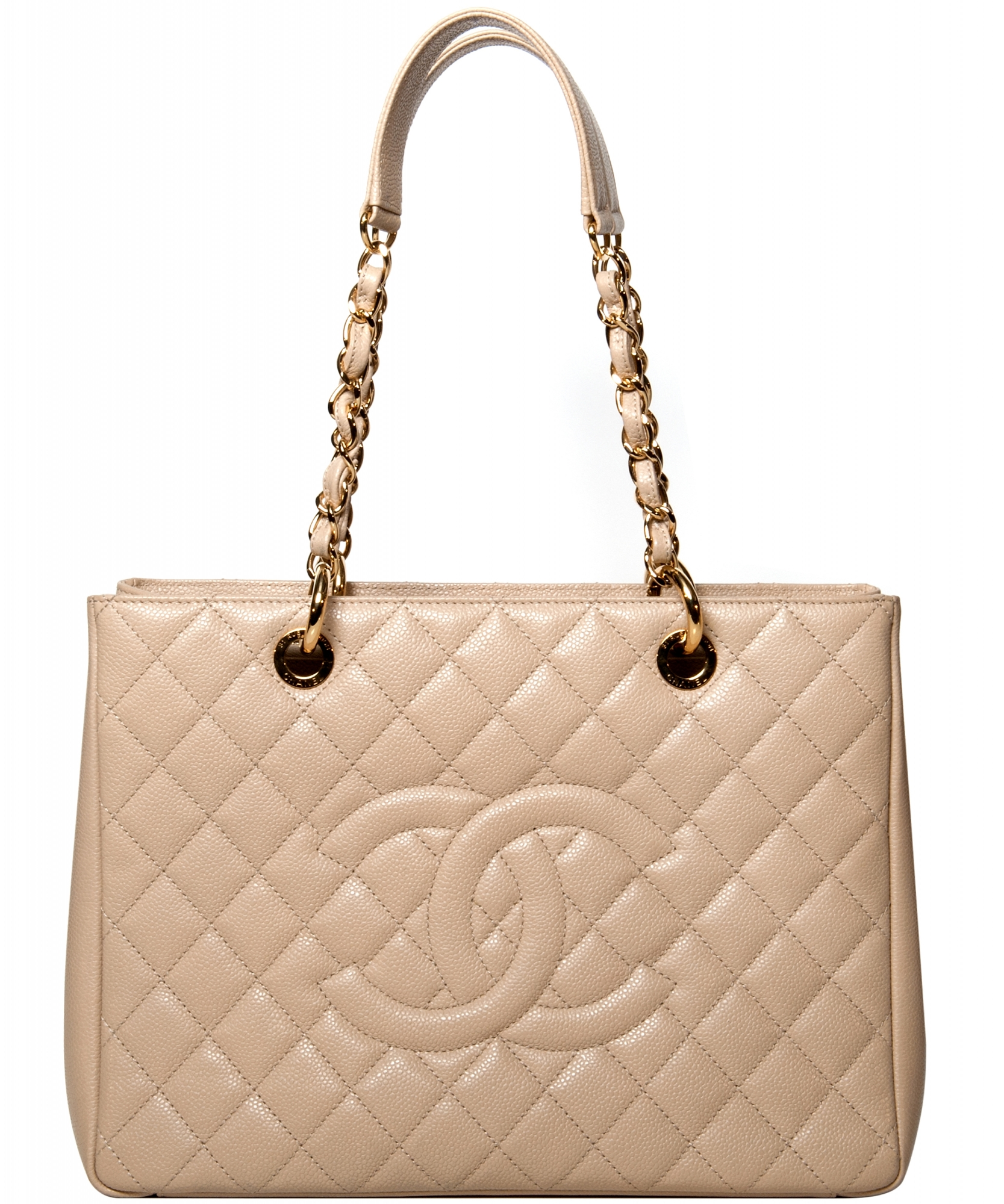 446930e3579 Chanel Beige Leather GST Grand Shopping Tote | La Doyenne