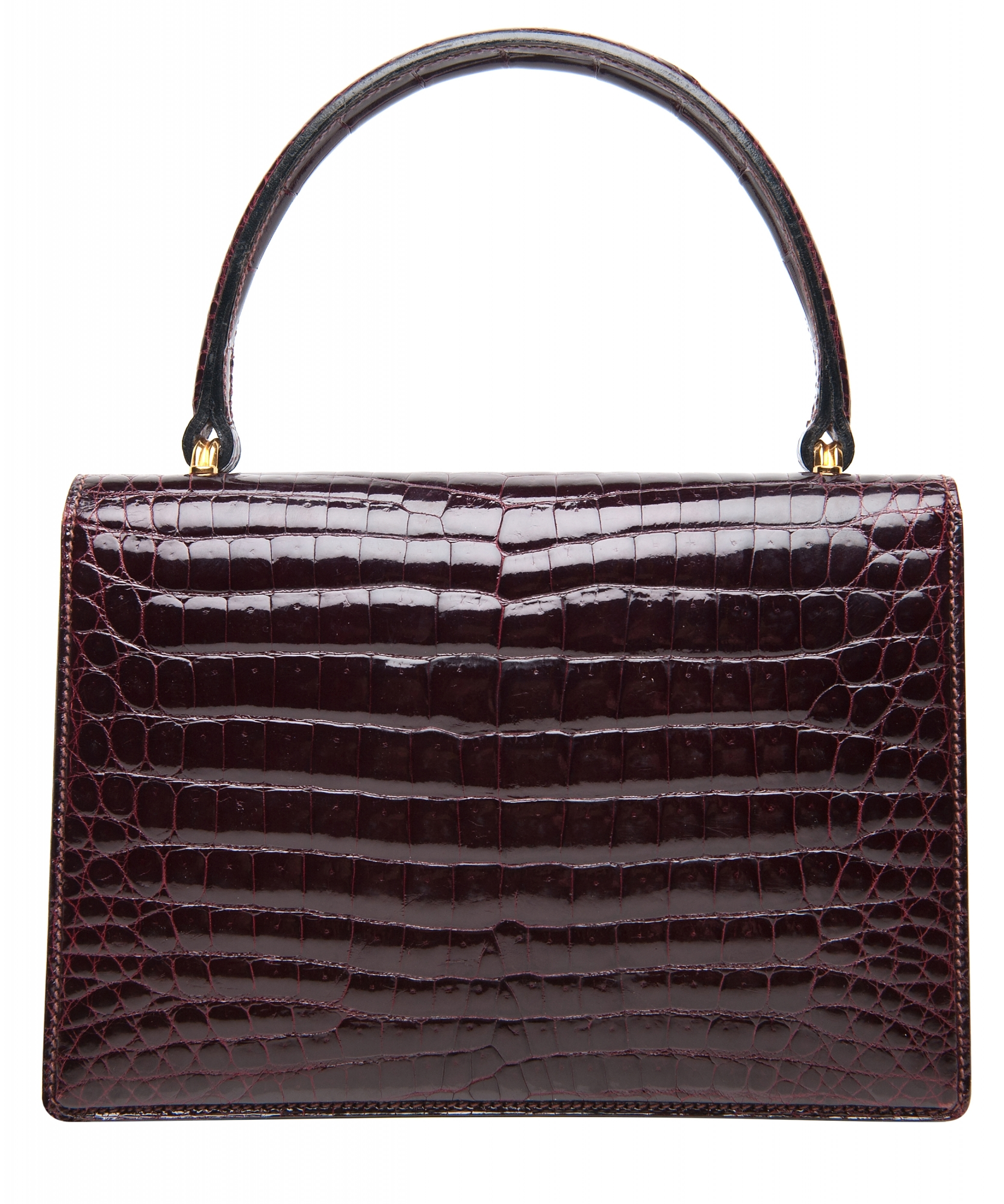 2fa38c05292f45 Vintage Gucci Crocodile Top Handle Bag | La Doyenne