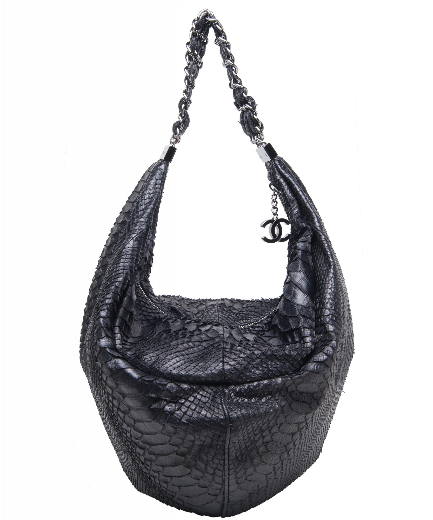 3f27ea658335 Chanel Rock & Chain Python Hobo Bag - Limited Edition 2007   La Doyenne