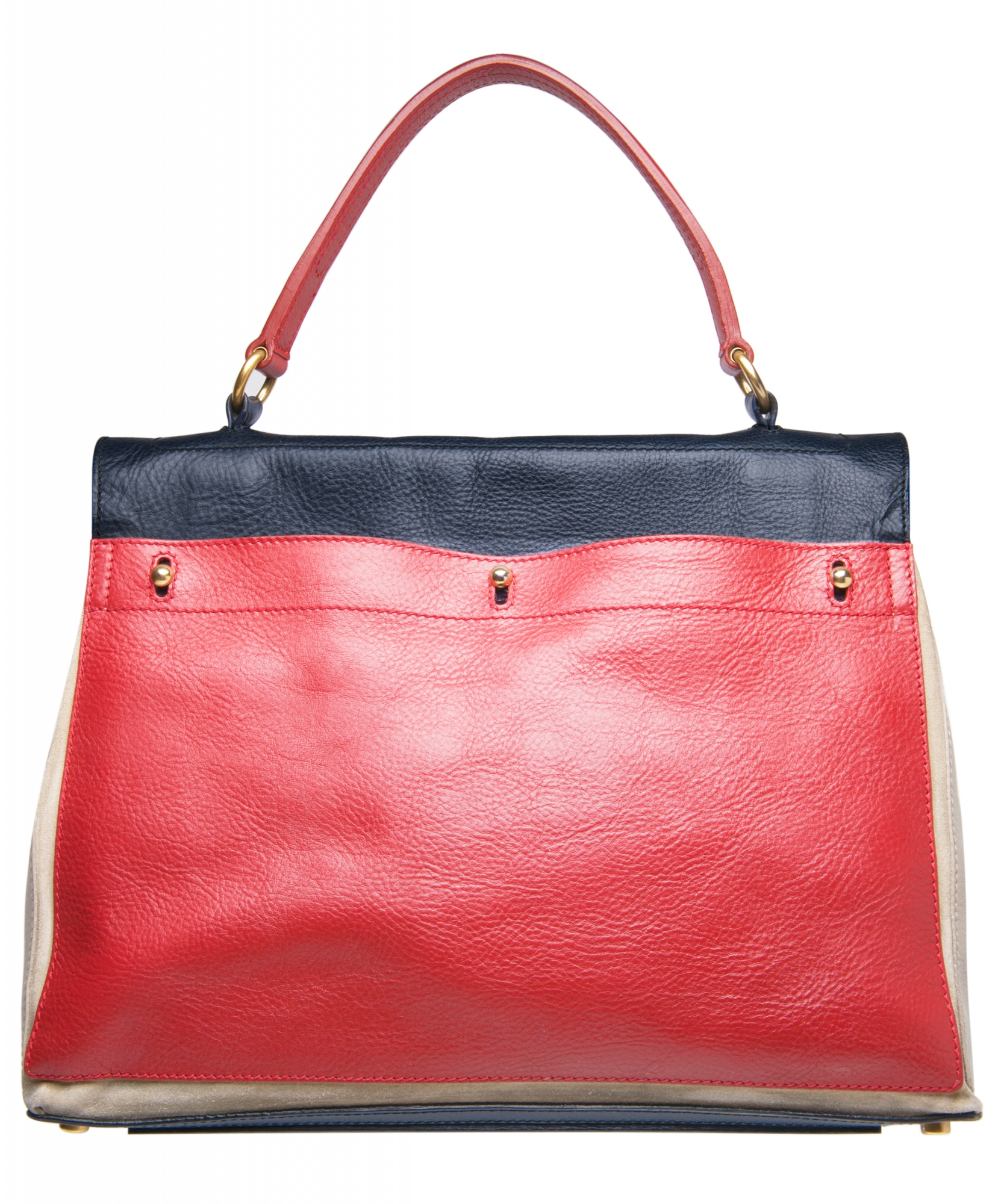 61c1f56a28 ... Handbags  Yves Saint Laurent Tricolor Muse Two Satchel - Large. Tap to  expand