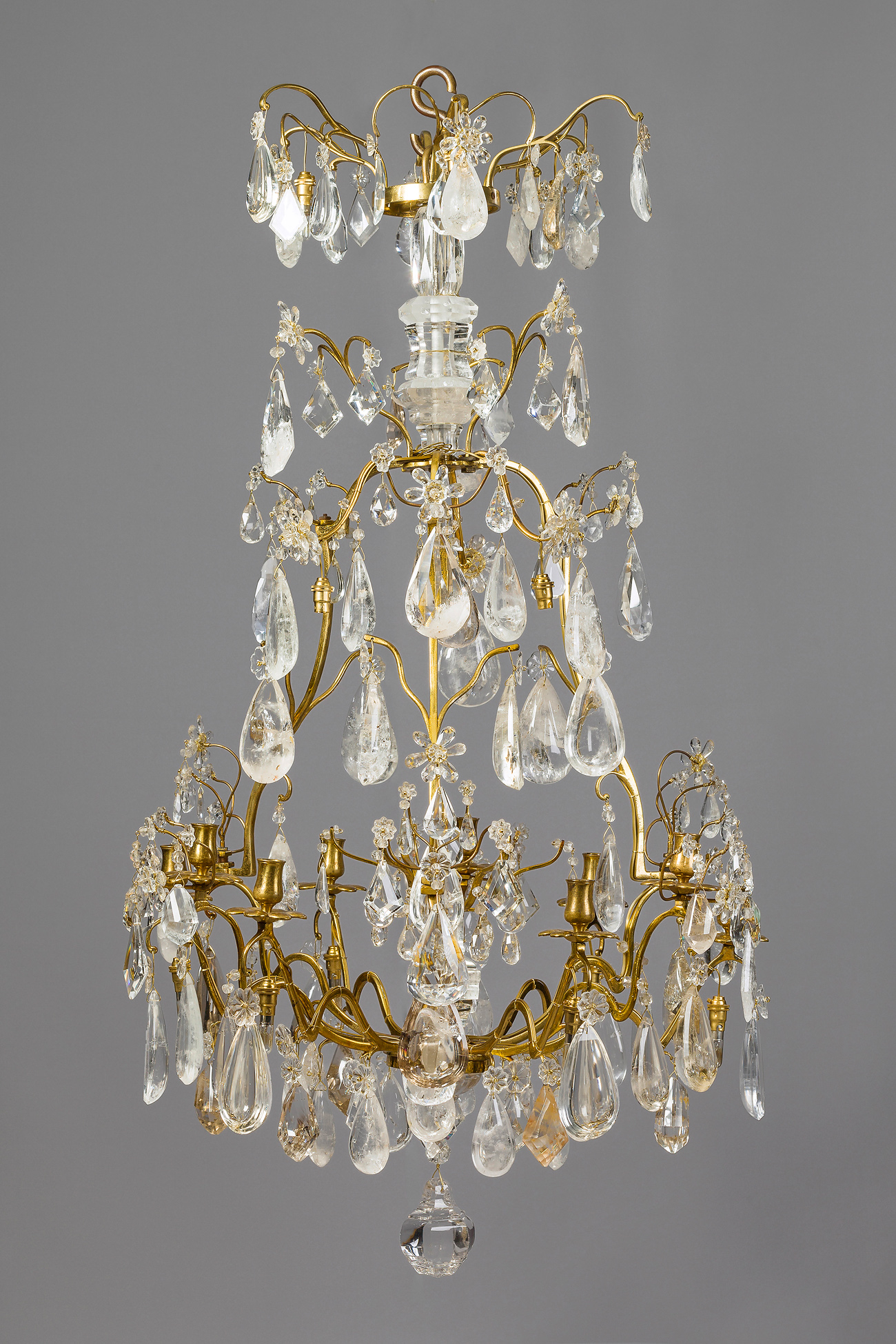 french louis xv lustre a cage with rock