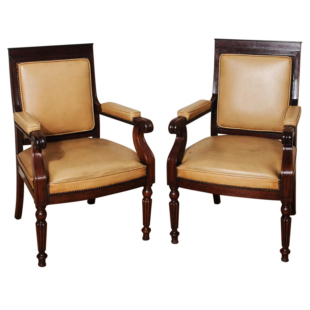 Een paar mooie engelse mahonie fauteuils artlistings - Mooie fauteuil ...