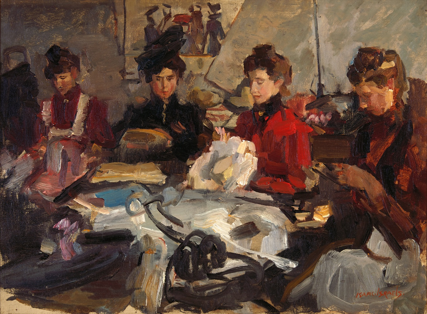 Isaac Israels. Modinettes at work - Isaac Israels | Fijnaut