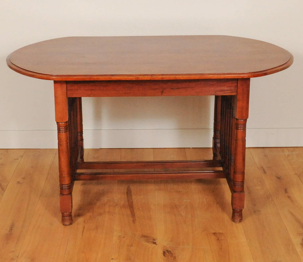 A Dutch Art Deco Mahogany Dining Room Set Of A Table And Four Chairs, Circa  1920