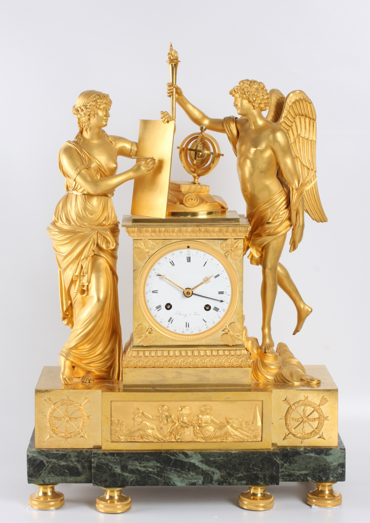 Antique french empire mantel clocks