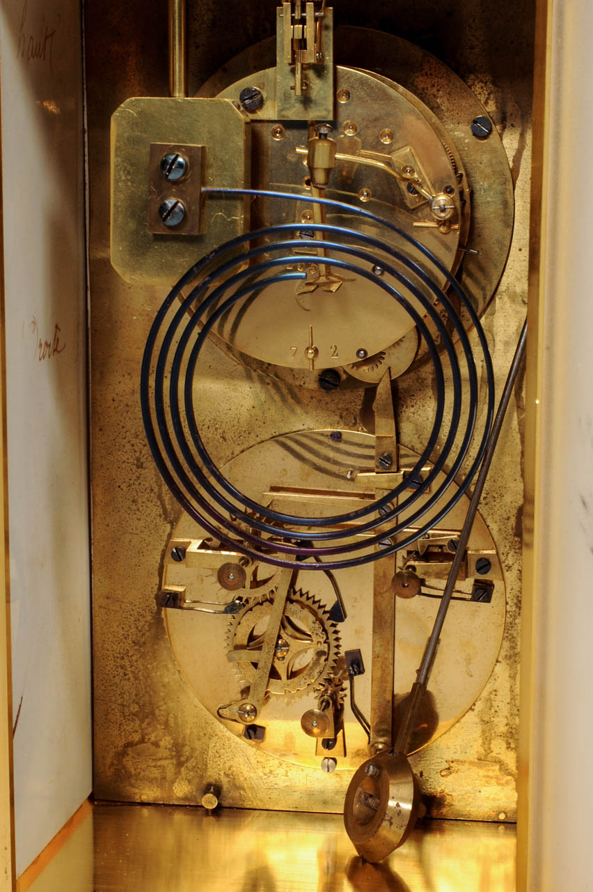 An Attractive French Brass Svres Porcelain Mounted Mantel Clock Electrical Wiring With Perpetual Calendar