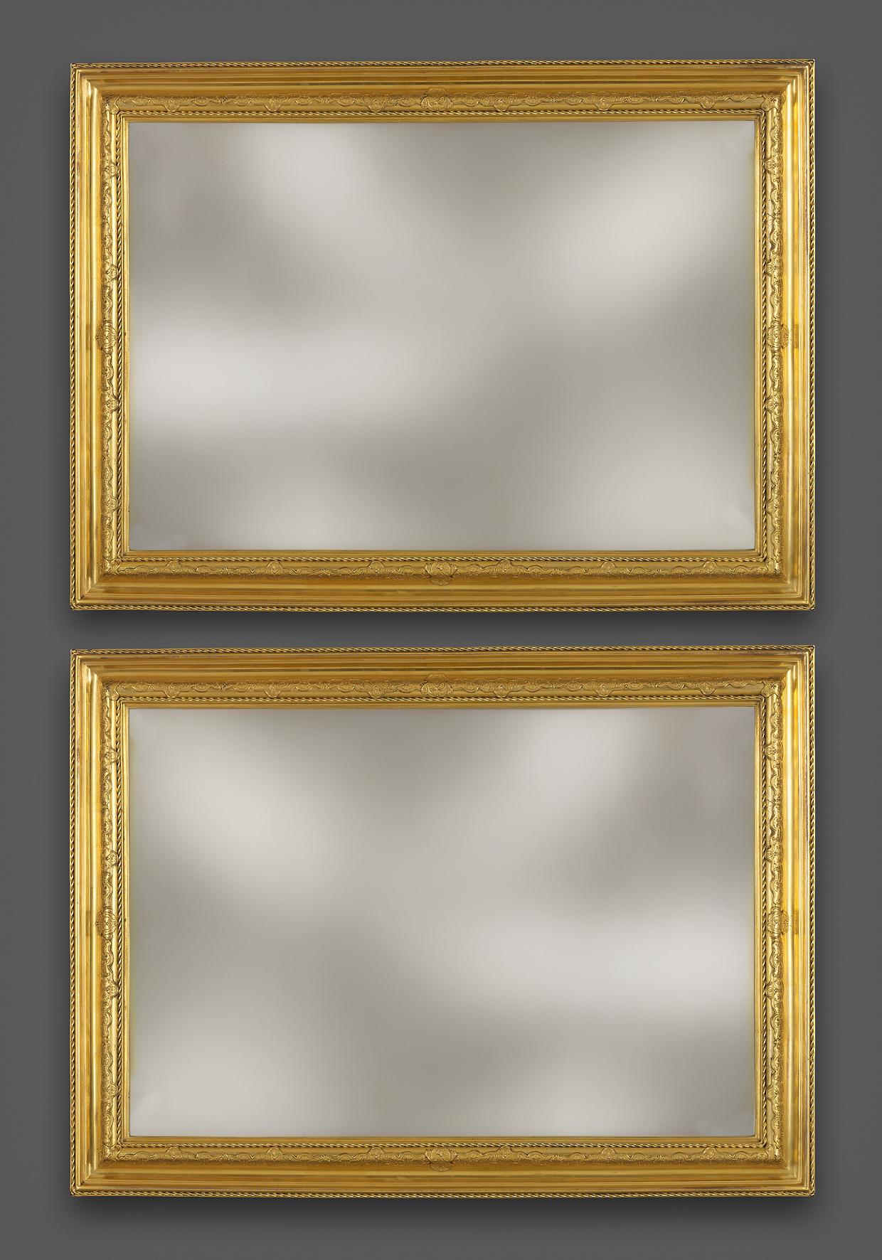 Ein Paar seltene Rahmen aus der französischen Régence-Periode ...