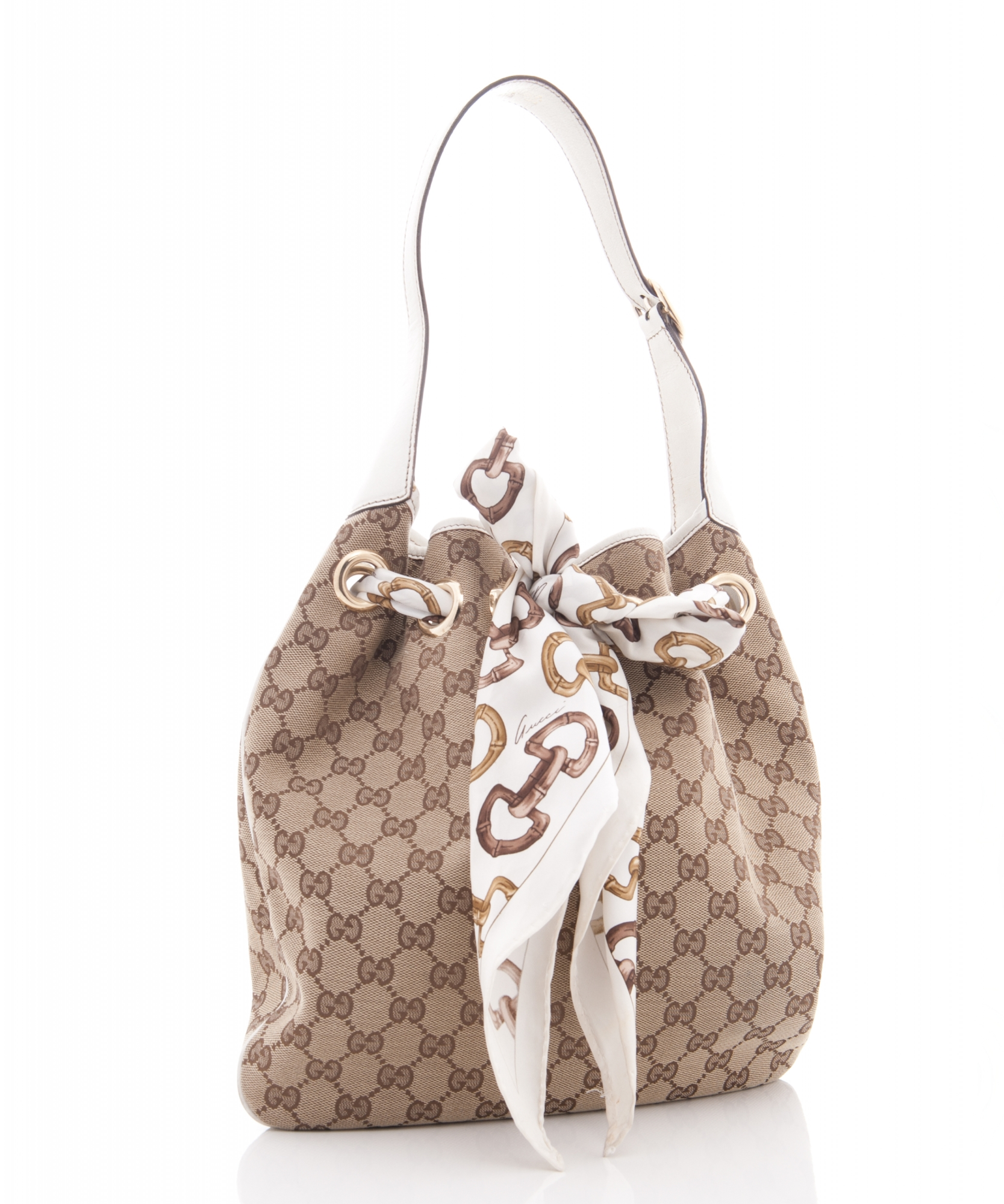 Gorgeous Snake Skin Print Bag Quality Over Quantity Price: Gucci 'Positano' Scarf Bag In Ivory Canvas