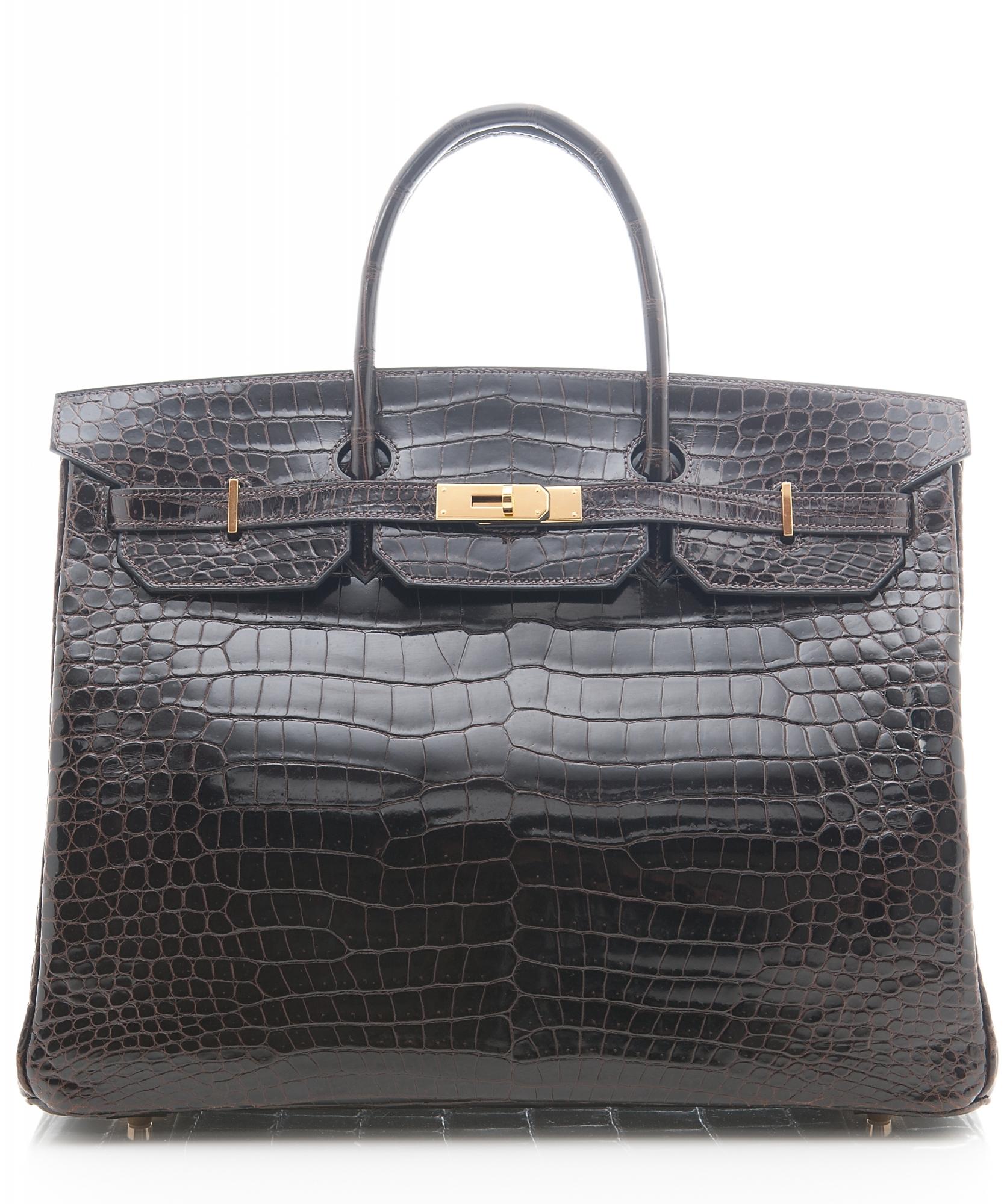 Hermès Birkin Bag 40cm In Shiny Brown Porosus Crocodile
