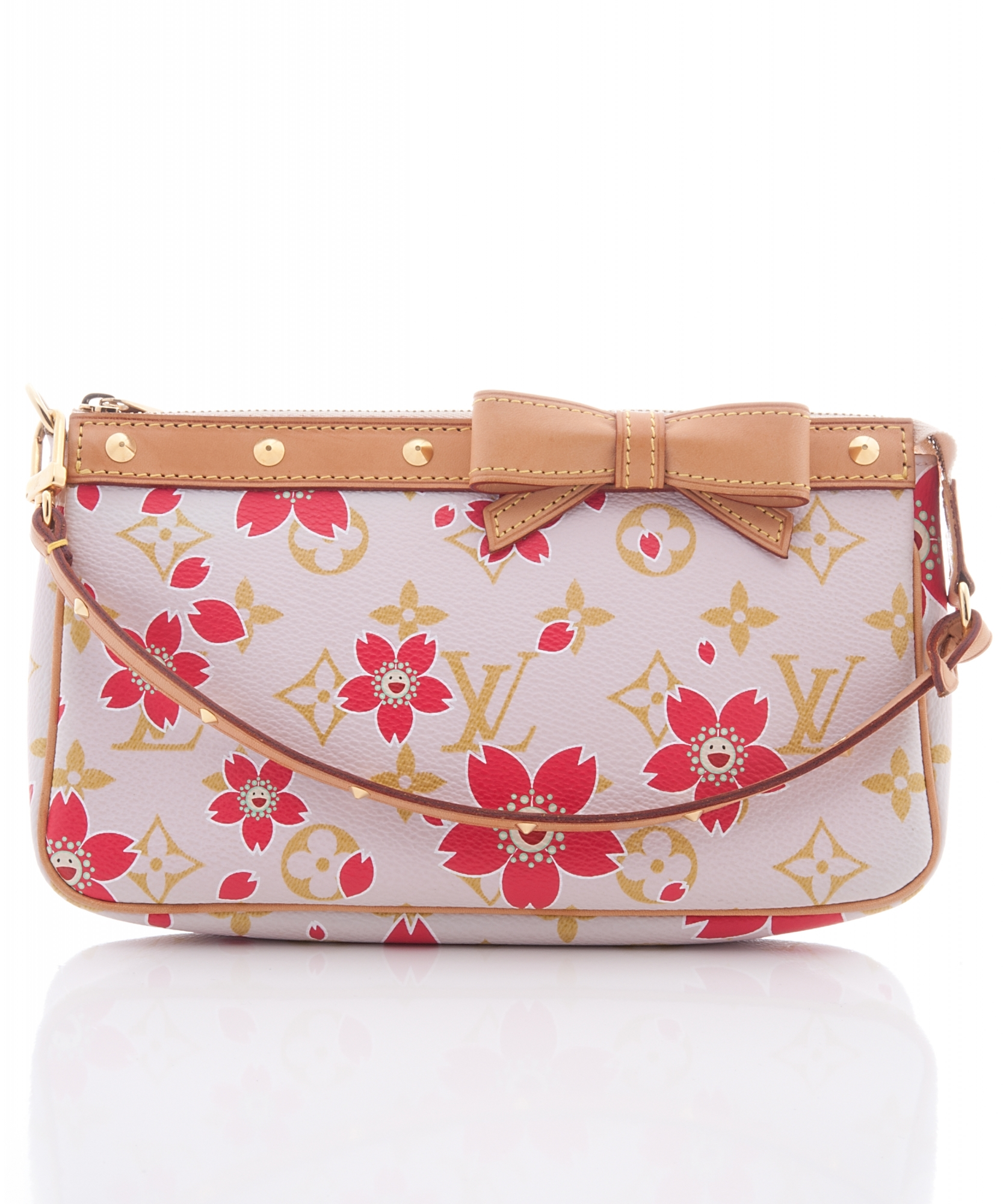 4e829902c08 Louis Vuitton Pochette Handbag, Limited Edition in Pink Monogram Cherry  Blossom