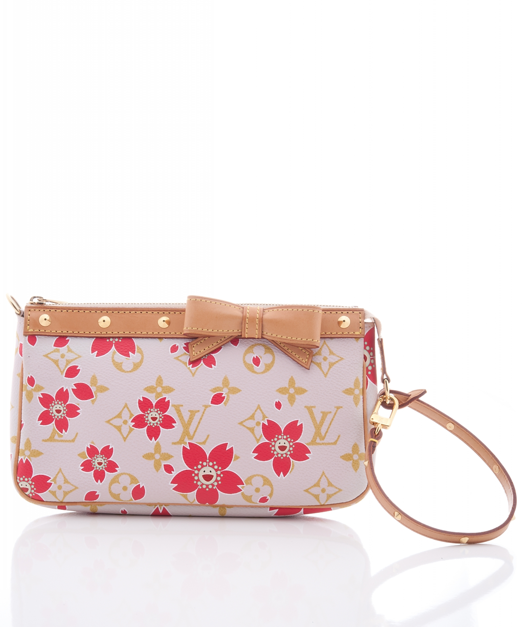 5e3c0812fd ... Louis Vuitton Pochette Handbag, Limited Edition in Pink Monogram Cherry  Blossom. Touch to zoom