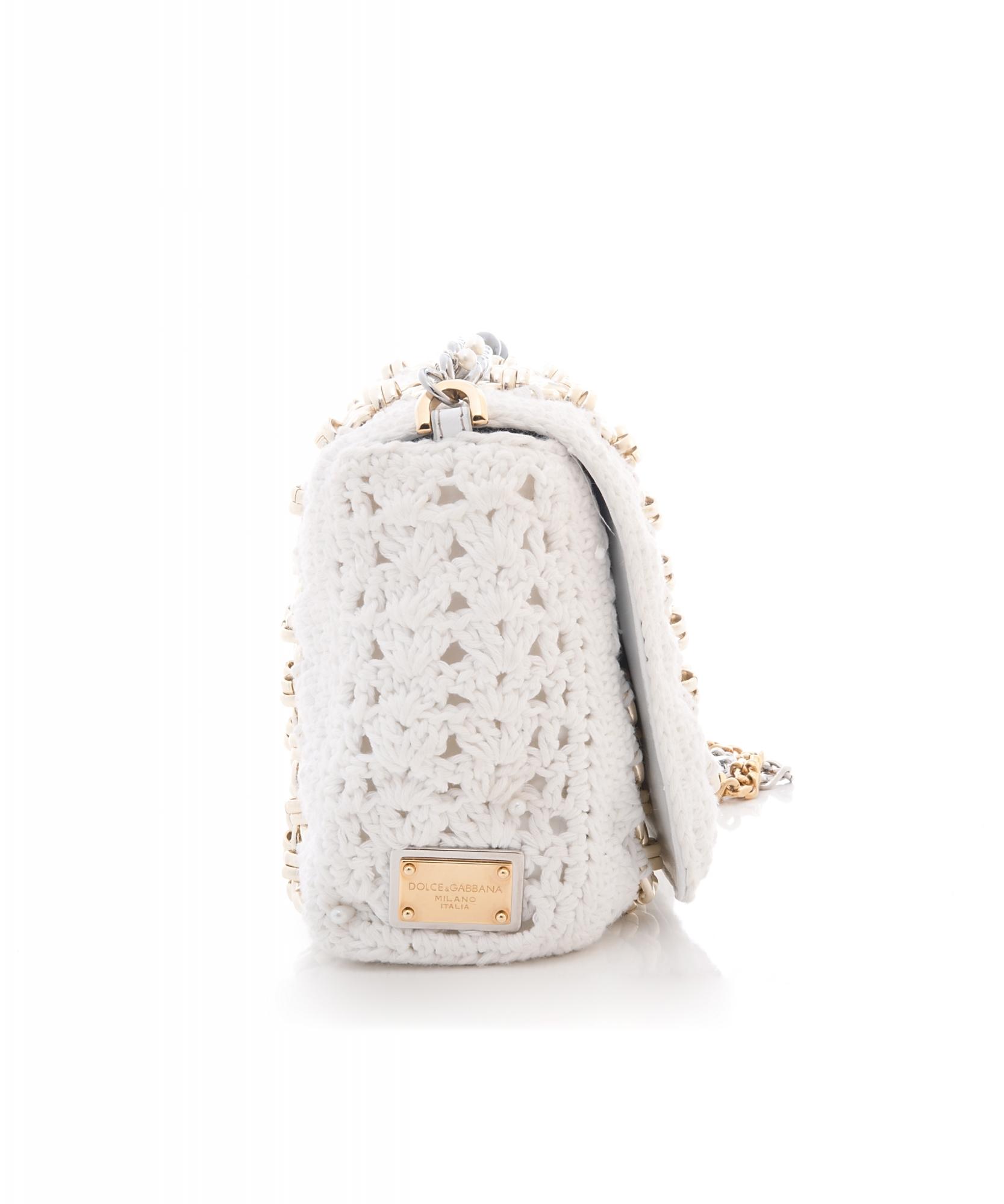 dcf0c263210 ... Shoulder Bags; Dolce & Gabbana Miss Charles Crochet Shoulder Bag. Touch  to zoom