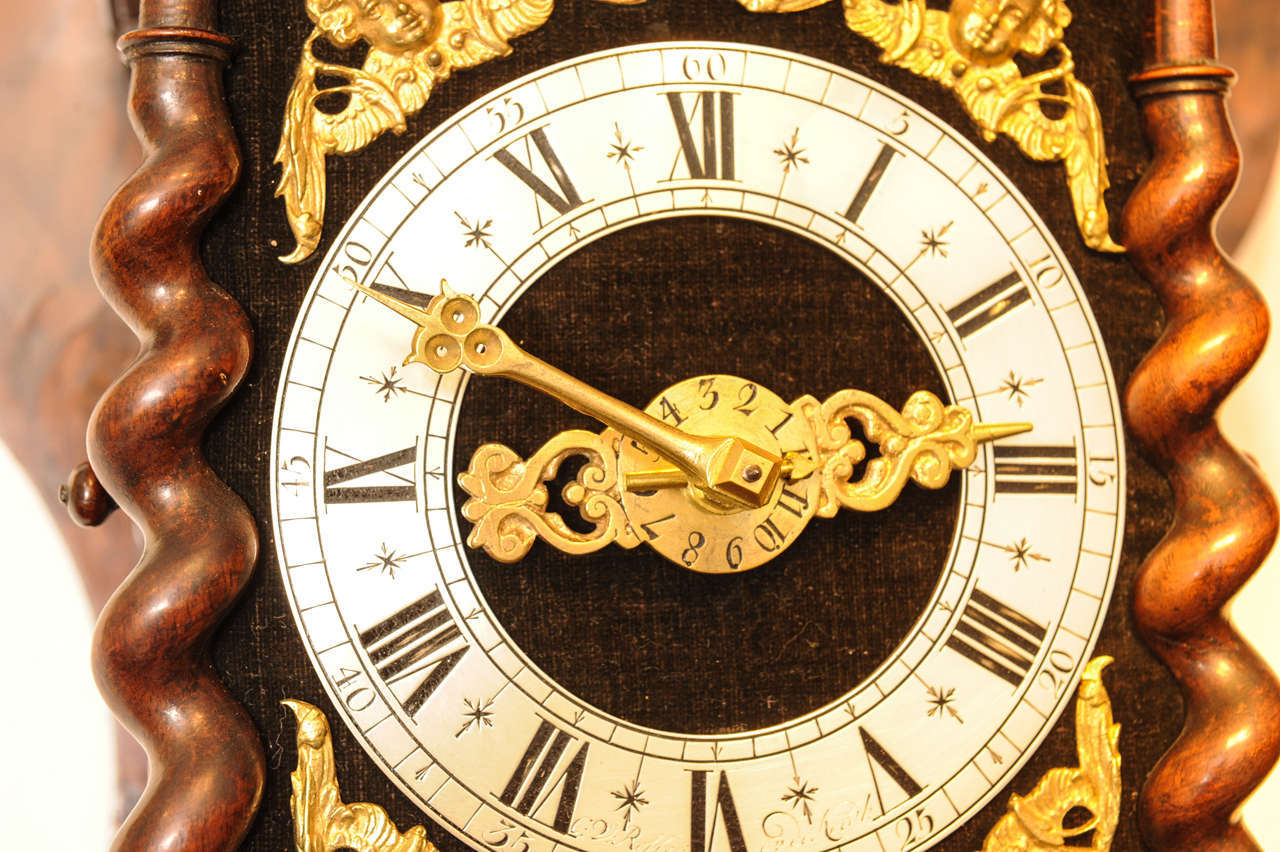 A Good Dutch Zaanse Rosewood Wall Clock By Cornelis Van